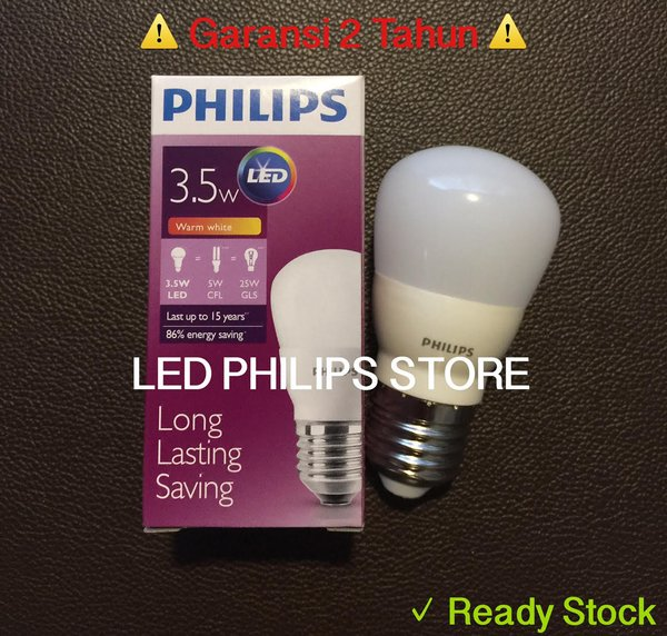 LIMITED Lampu Bohlam LED Philips 3 Watt Kuning Warm White 3W 3 W 3Wat