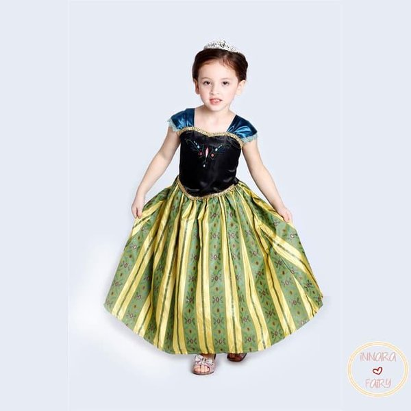 Hot Sale Princess Anna Frozen Anna Dress Kostum Anak 2t 3t 4t 5t 6t 7t Di Lapak Widipa Store Bukalapak