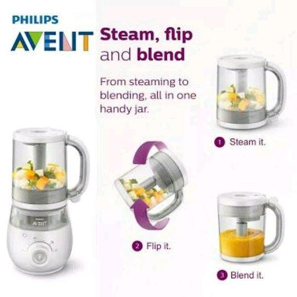 Blender untuk makanan bayi Philips Avent 4 in 1 Healthy Baby Food Maker