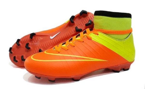sepatu bola nike acc high original premium orange 39-44