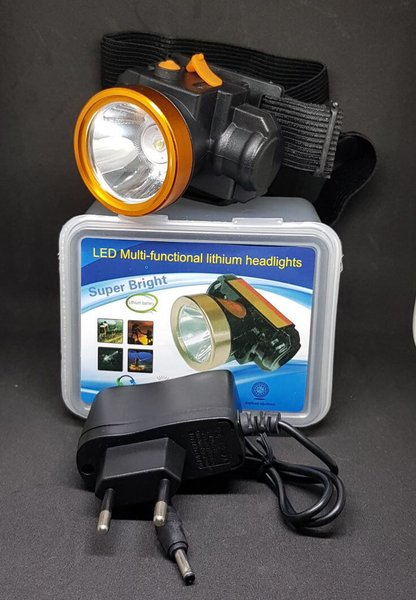 senter kepala lithium kecil sx999 led putih  headlamp led white