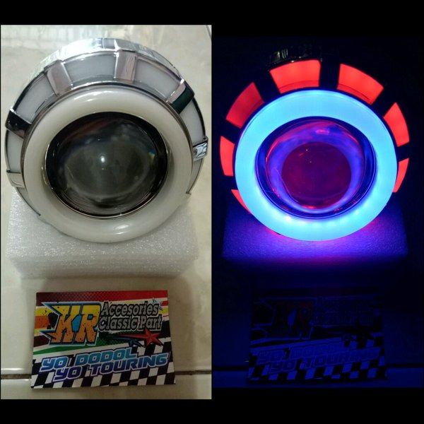 lampu Proji LED Model Bulat Flash