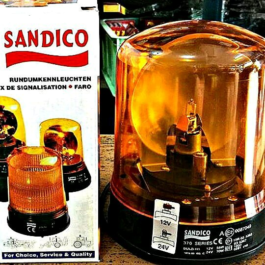 Lampu Rotator Rotari Warning Light Amber Sandico