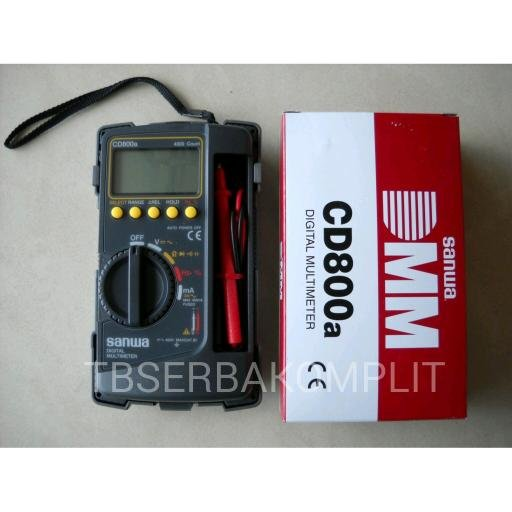 Sanwa CD800a Digital Multimeter Multitester Original Asli