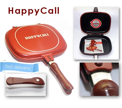 HAPPY CALL JUMBO ORIGINAL 32CM KULIT JERUK PANCI TEFLON AS ON TV Unik