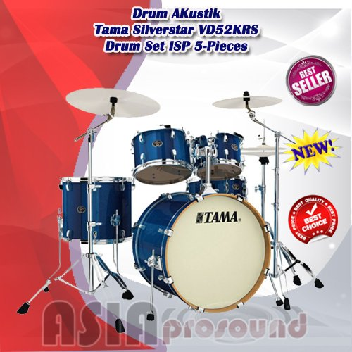 Drum Akustik Tama Silverstar VD52KRS Drum Set ISP 5-Pieces Murah