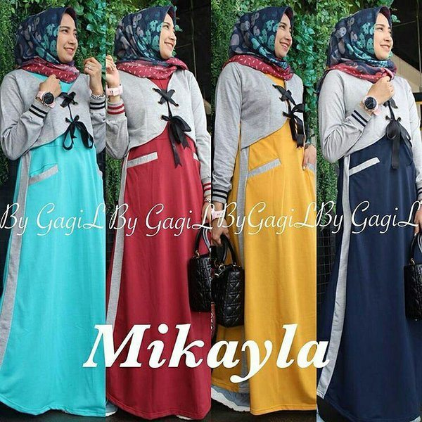 Baju hijab model baru  Gamis lucu  Long dress murah  Mikayla Dress