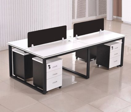 meja kantor, stationary desk, meja partisi, meja staff.