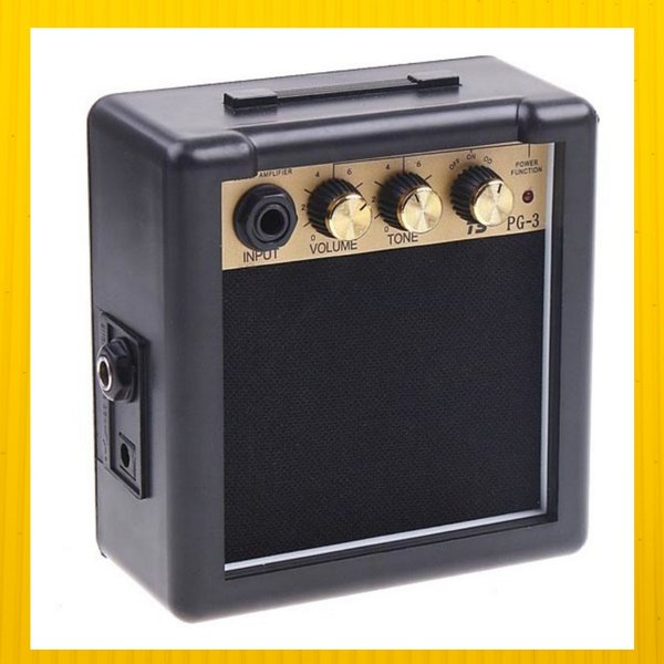 Amplifier Mini Gitar Elektrik Ampli Portable Speaker akustik dan Bass