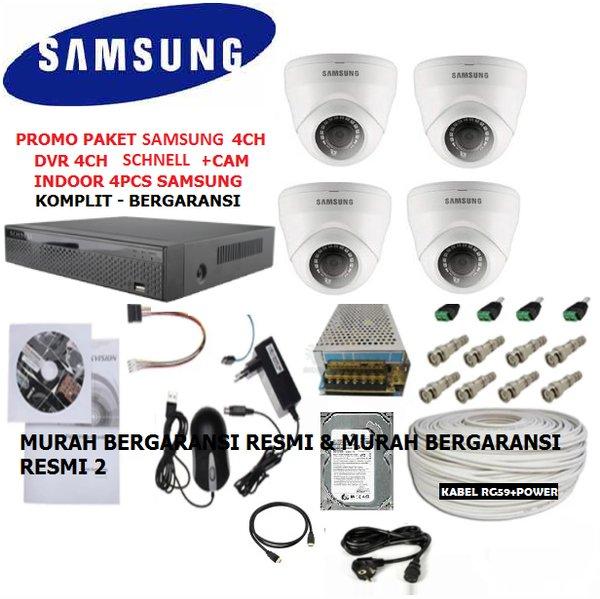 PAKET CCTV 4CHANNEL SAMSUNG MIX SCHNELL FULL HD 2MP 1080P KOMPLIT LENGKAP SIAP PASANG