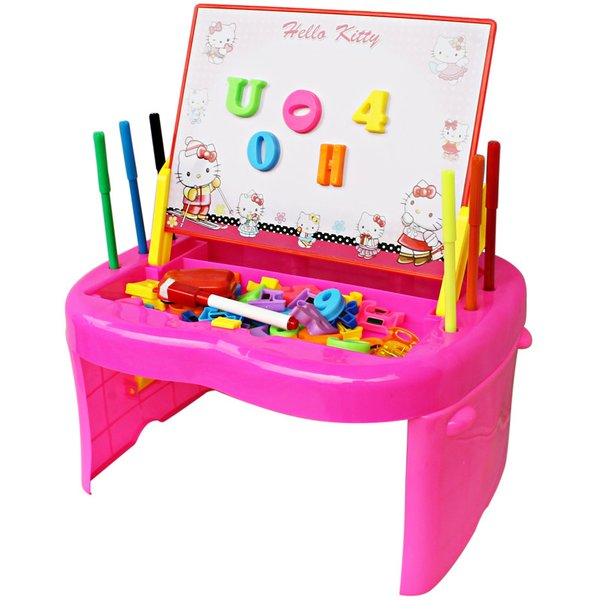 NEW MEJA BELAJAR HELLO KITTY DRAWING DESK HELLO KITTY MAINAN ANAK LAKI PEREMPUAN