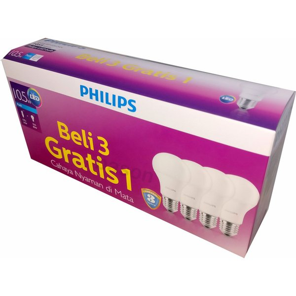 Philips LED Bulb 10 5 W  Beli 3 Gratis 1