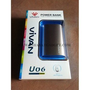 POWER BANK VIVAN 6600 mAh U06 GREY