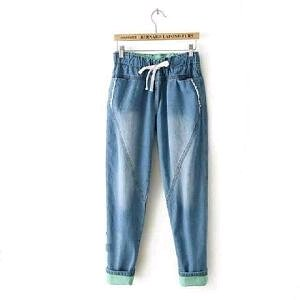 Celana Jeans Wanita Jasmin Pants BEST SELLER Kulot Jogger Denim Cewek Korea Cantik Keren Modis Terbaru Kekinian Jaman Now
