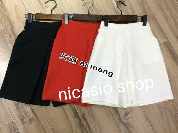 baju anak cewek perempuan import branded celana kulot pant girl black white hitam putih fashion supplier