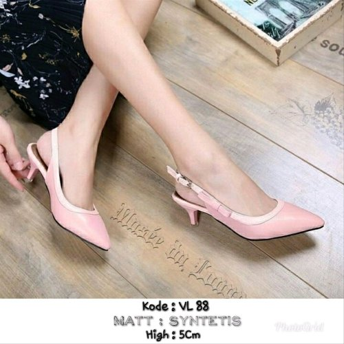 small resolution of sepatu heels sling back vl88 dm