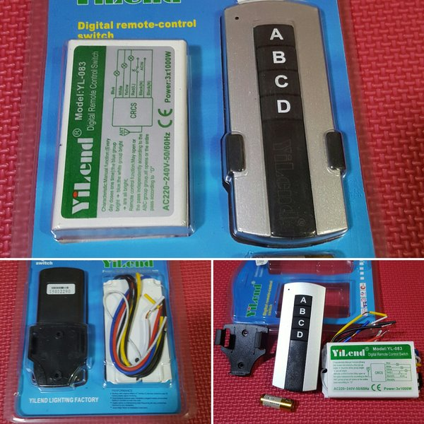 Saklar Remot 3 Channel . Remote Control Switch 3 Way 3 jalur