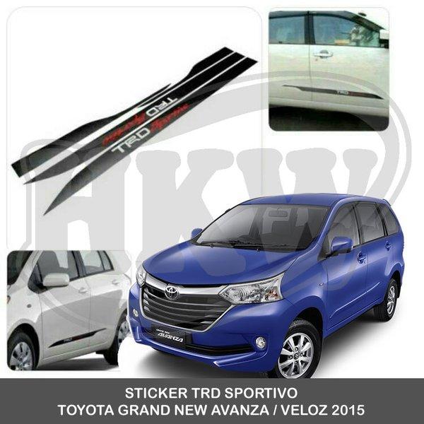 harga grand new avanza veloz 2015 spesifikasi 2018 jual sticker trd sportivo toyota di lapak surya accesories suryasportack1