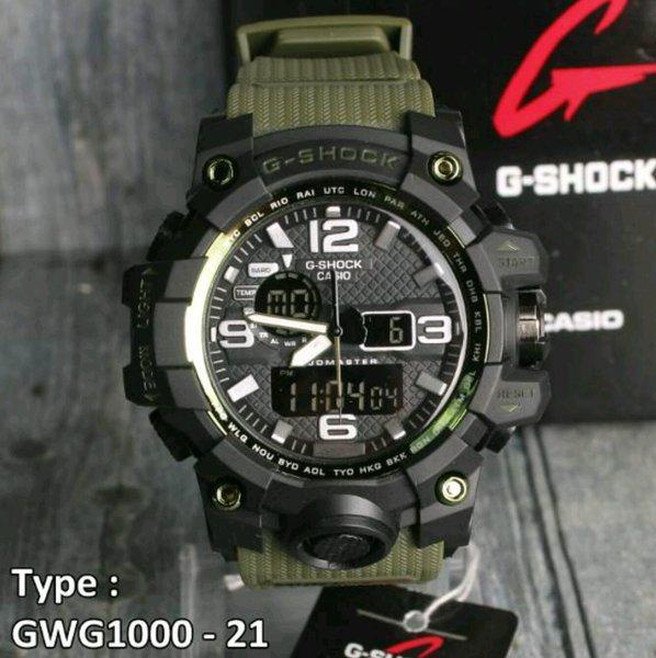 G Shock GA400 Hijau / Green Army Casio Grade Original / KW super / Jam tangan Pria dual time ( suunto digitec swiss army rolex