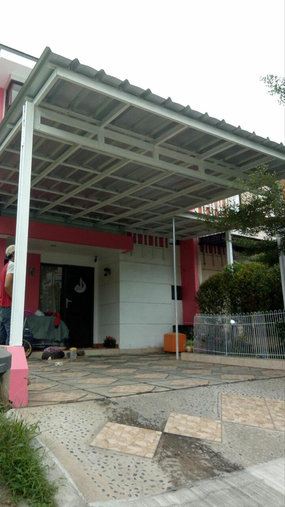 harga kanopi baja ringan atap spandek jual terbaru di lapak home