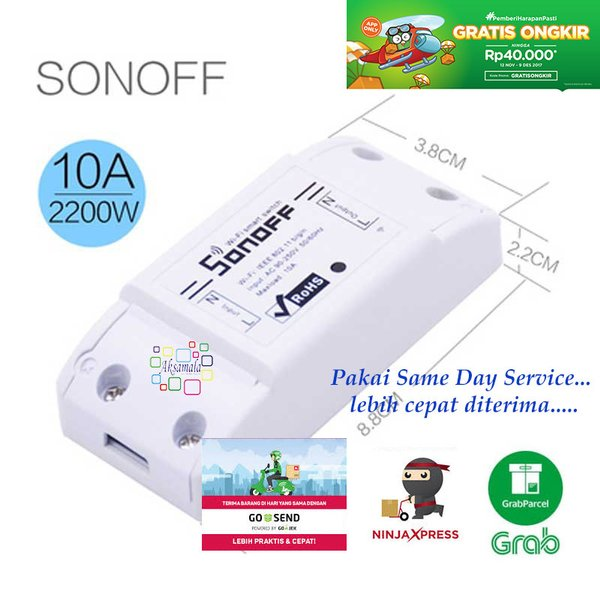 Saklar Remot Wifi via Android iOS Smart Switch Wifi Smart Home