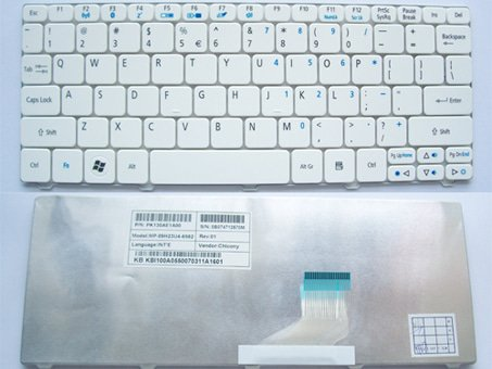 Keyboard PC Komputer Laptop ACER ASPIRE ONE HAPPY HAPPY2 PUTIH