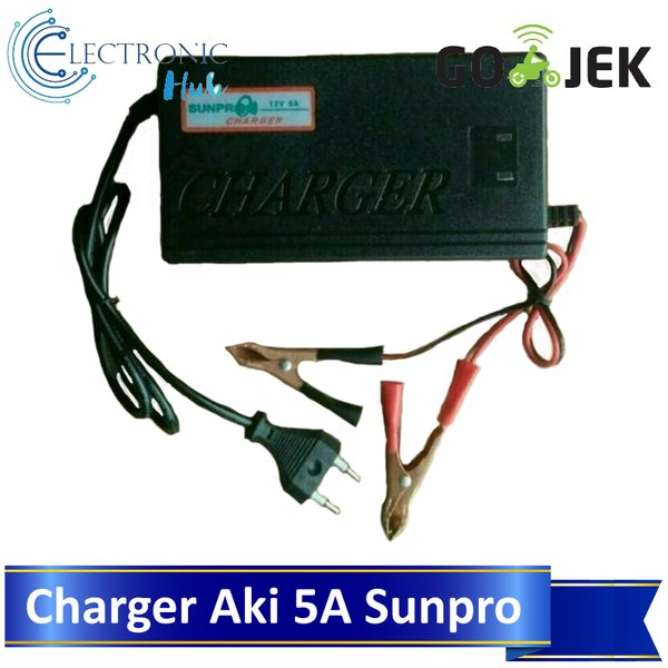 Charger Aki 5Amps Accu Motor Mobil Sunpro SU-1205A Battery Charger
