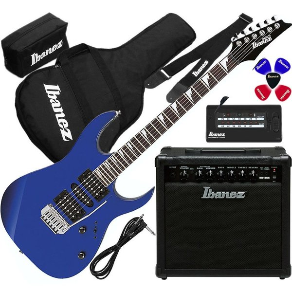 Ibanez IJRG200U-BL Electric Guitar With Bag & Amplifier & Accessory Kit