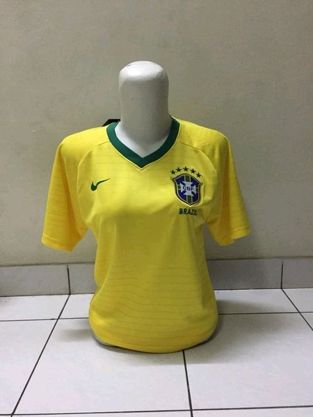 jersey brazil home ladies piala dunia 2018