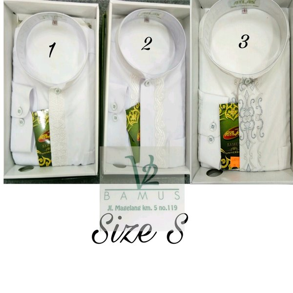 Baju Koko Atlas Putih