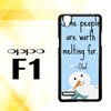 Casing Premium Custom Hardcase Polycarbonate Hp Oppo F1 | Oppo A35 Case Cover Quote Disney Frozen Olaf X3807
