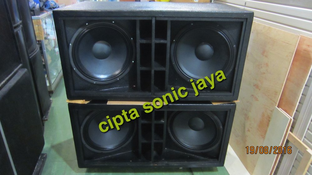 Jual box speaker subwofer 18 inch dobel isi komplit