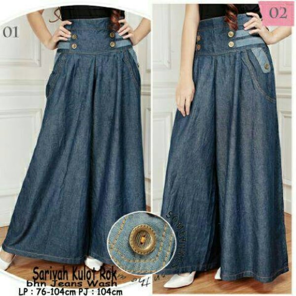 new sarivah jumbo kulot celana kulot panjang kulot jeans big size polos sb