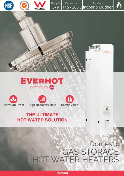 Water Heater Gas Rheem Everhot GRAS230YP