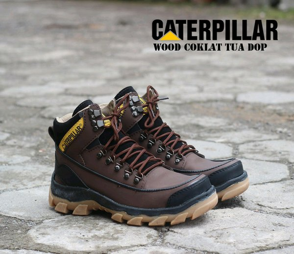 sepatu caterpillar wood boot safety