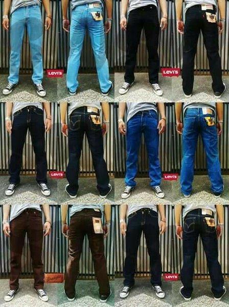 Celana Jeans Pria Reguler Levis Size 28-38 Wrangler Lois
