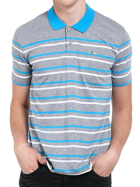 kaos stripe WALRUS polo shirt original brand.