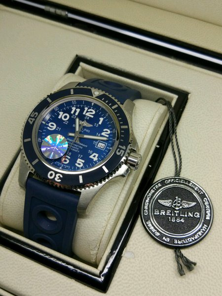 RARE INTEAM SWISS CLONE 1.1 - Jam Tangan Replika Breitling Blue New Limited Edition
