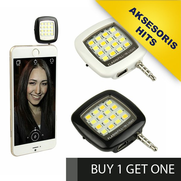 [BUY 1 GET ONE ] Lampu Selfie / FlashLight LED Camera Hp