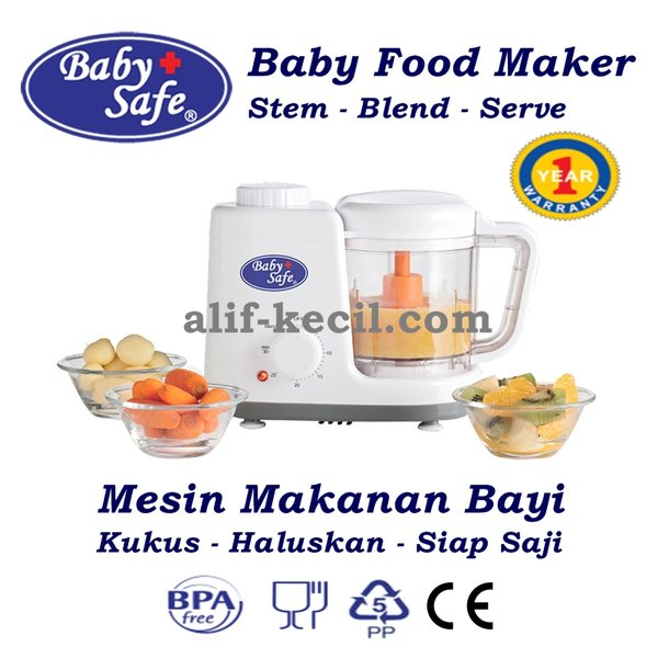 Baby Safe Baby food Maker/ Mesin Steam Kukus Blender Makanan Bayi Anak