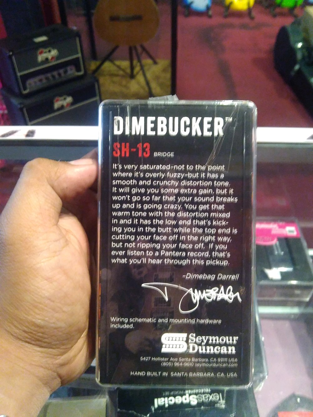 hight resolution of pickup sepul gitar seymour duncan dimebucker beridge position pickup