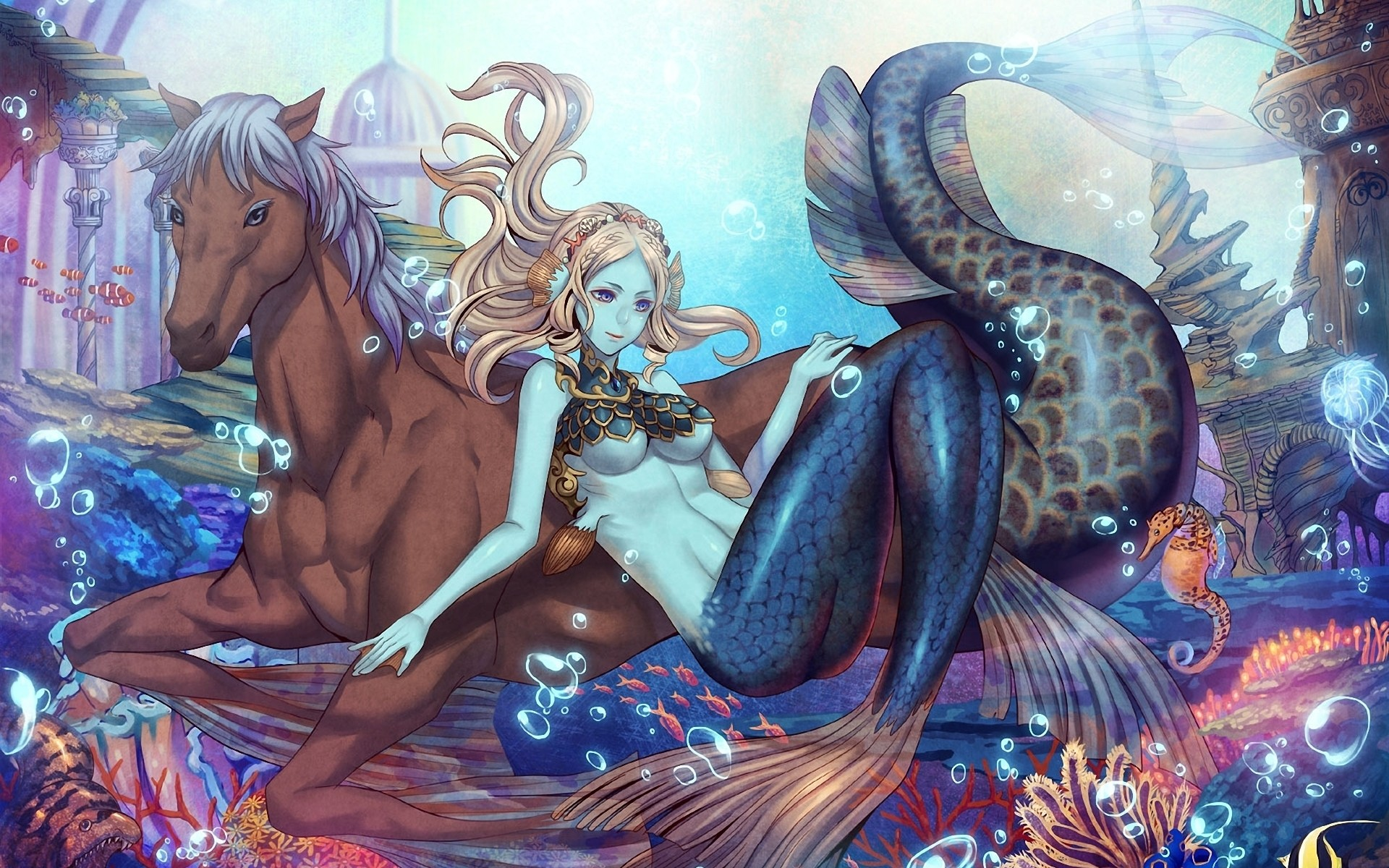 Mermaid Widescreen Wallpaper High Definition High