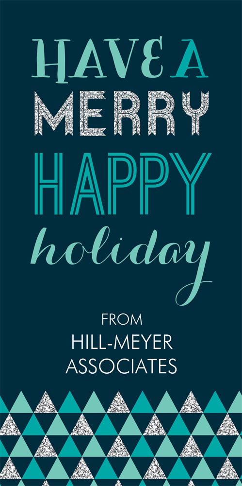 Teal Merry Happy Business Christmas Cards From CardsDirect