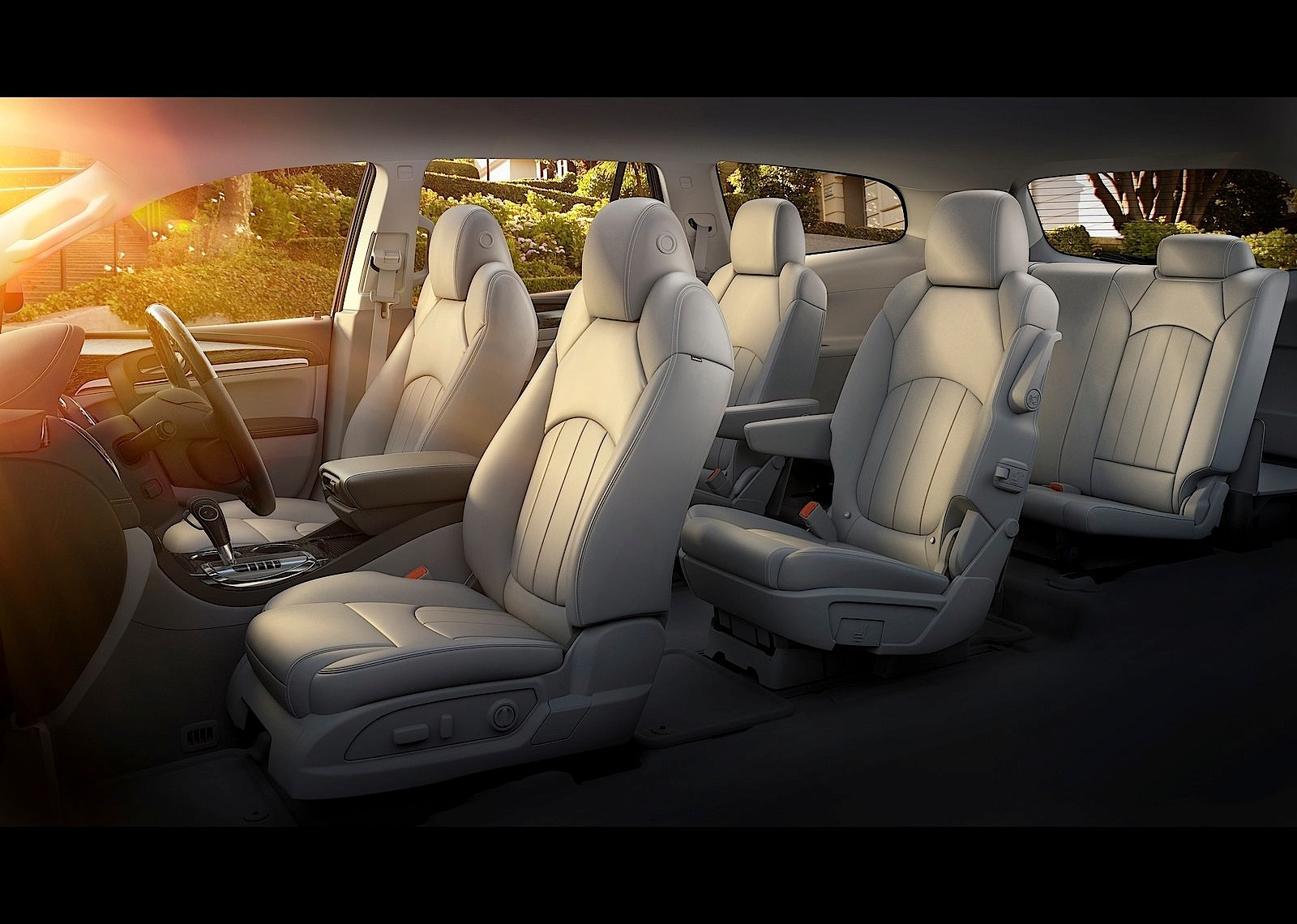 suv with 3 rows and captains chairs shabby chic dining chair slipcovers buick enclave specs 2012 2013 2014 2015 2016 2017