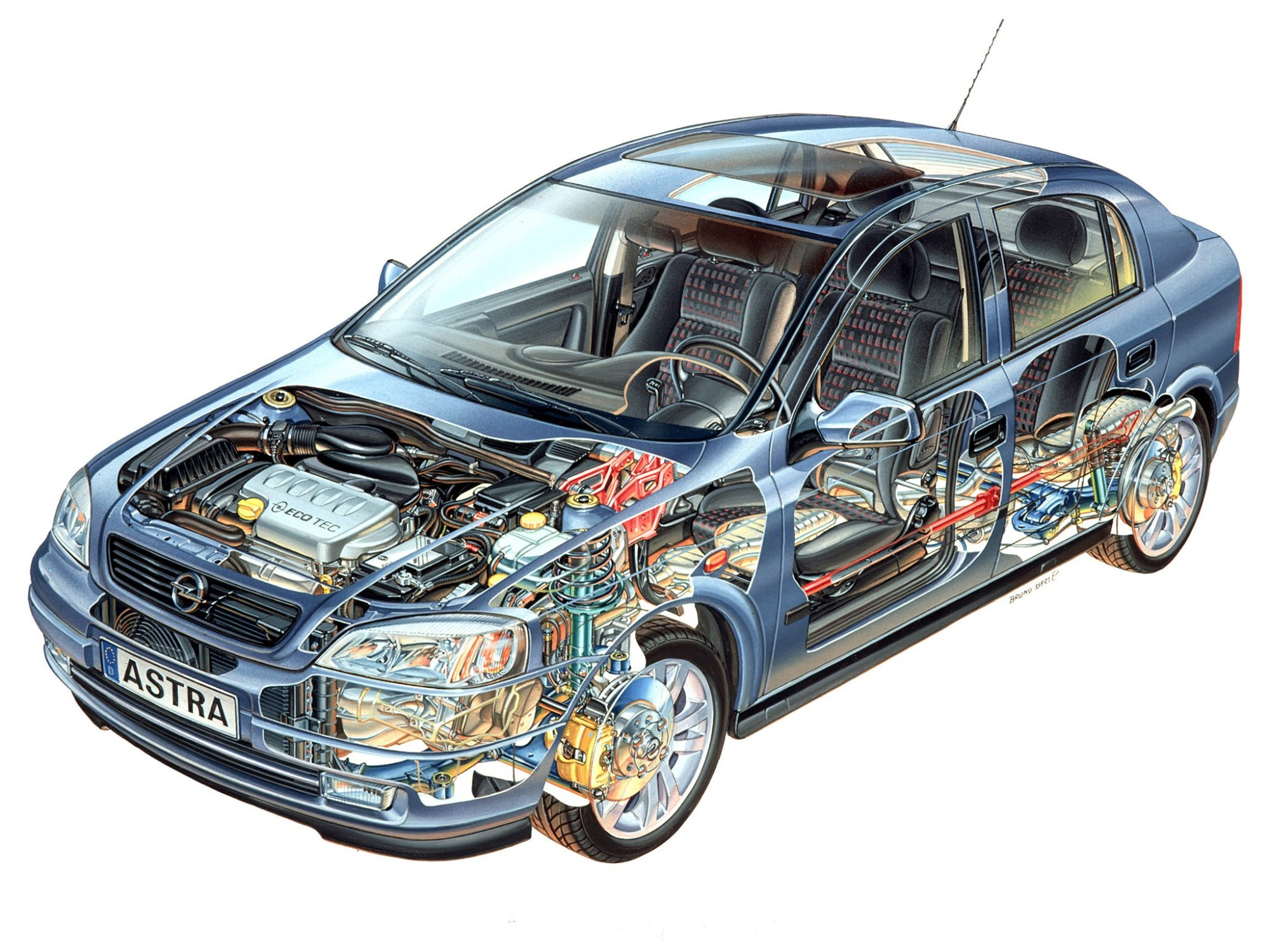 hight resolution of  opel astra 5 doors 1998 2004