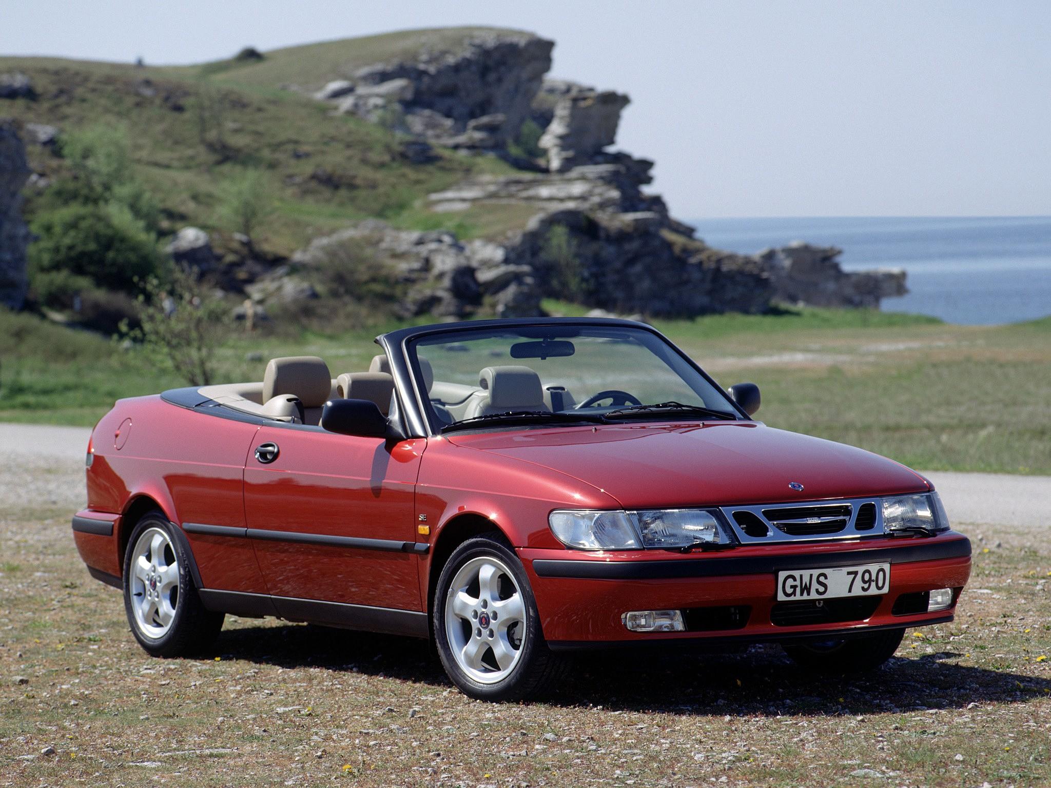Saab 93 Convertible  1998, 1999, 2000, 2001, 2002, 2003