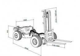 Collapsible RC Forklift Is Carried Under a Truck