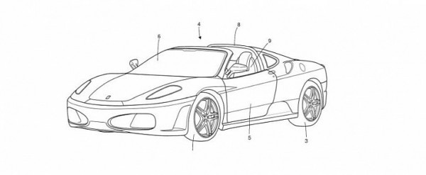 Ferrari Targa Top Design Patent Filed With The EUIPO