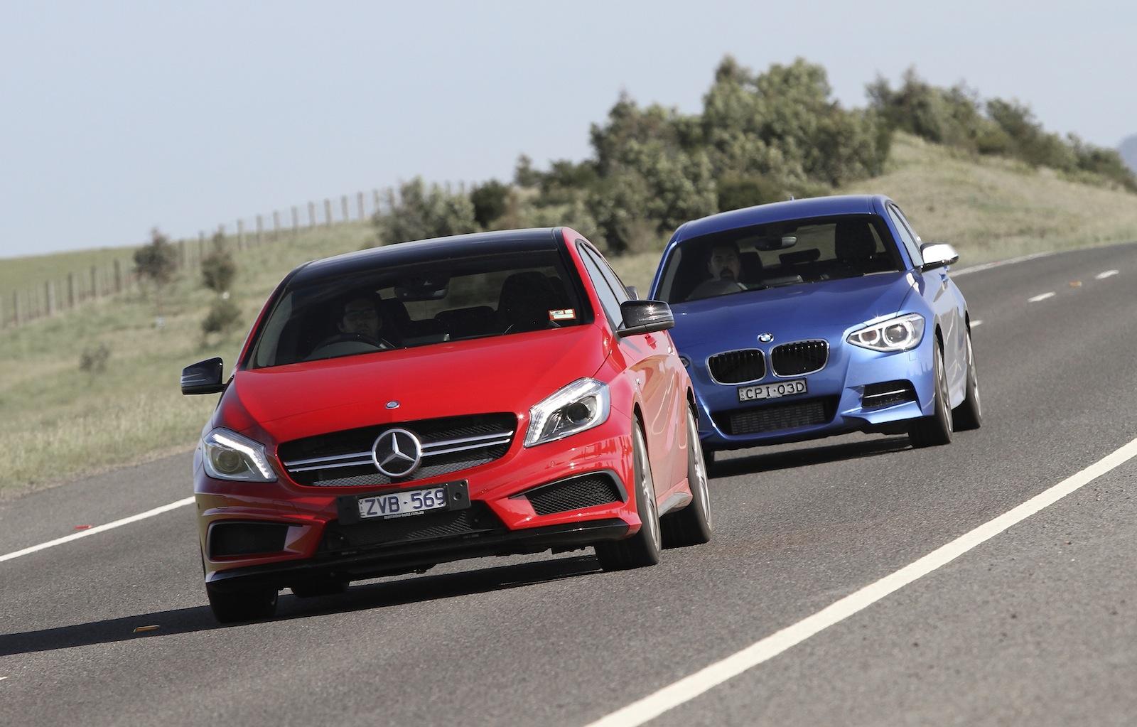 2013 BMW M135i vs Mercedes-Benz A45 AMG Comparison Test by Car Advice - autoevolution