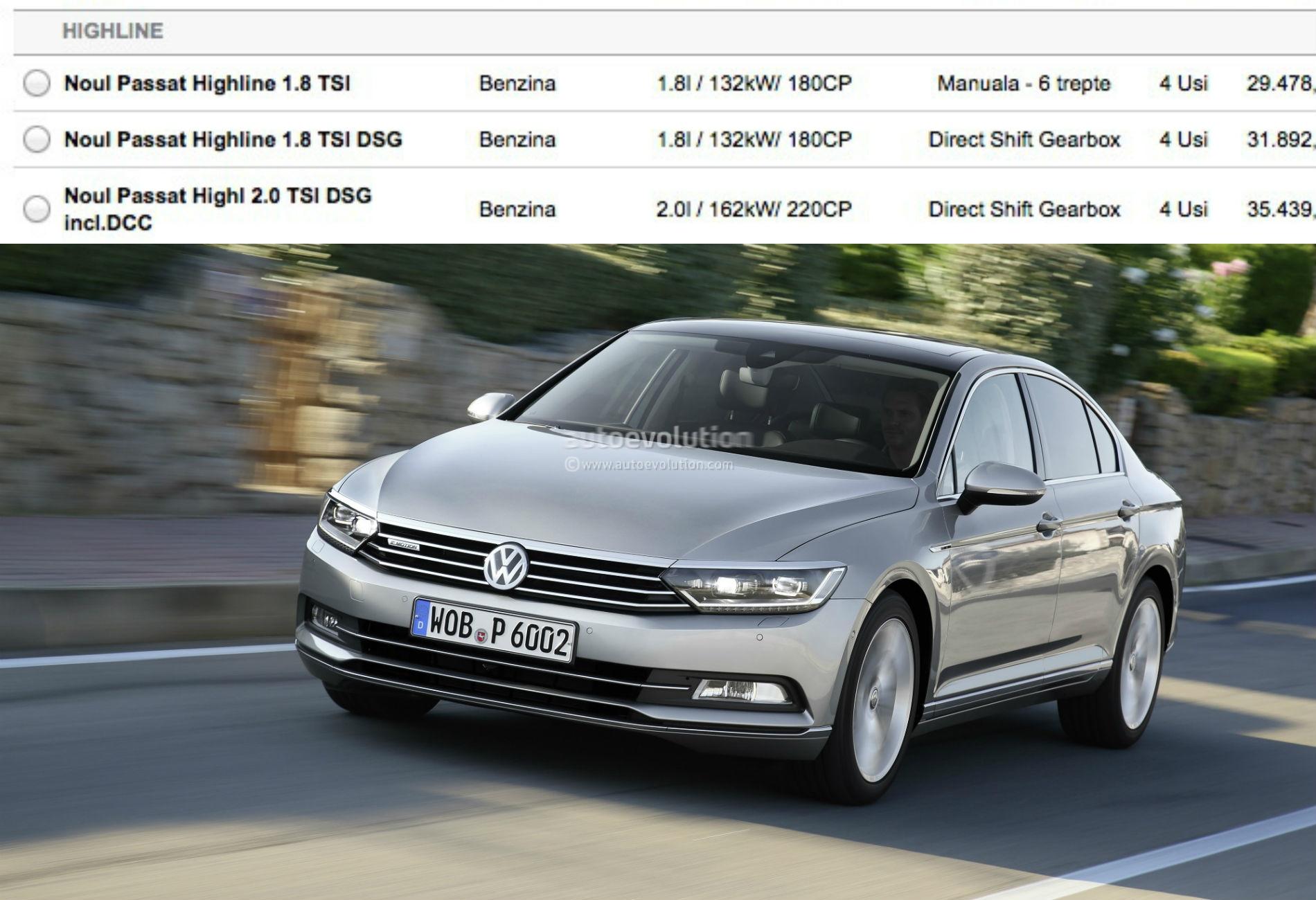 2015 Volkswagen Passat B8: 1.8 TSI and 2.0 TSI Engines Launched - autoevolution